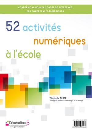 """Couverture """"52 activités numériques à l'école"""""""